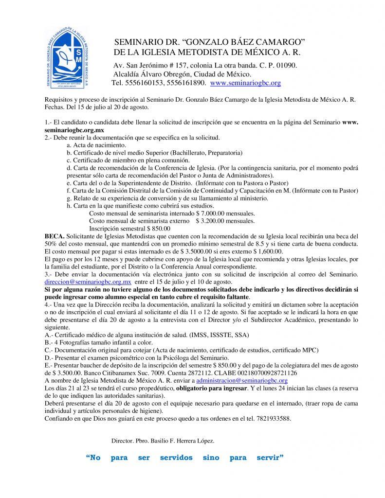 Requisitos y proceso de inscripcion licenciatura