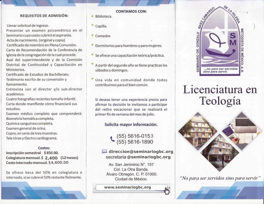 Licenciatura en Teología